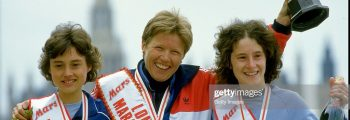 1985 – 2nd and 3rd in the London Marathon